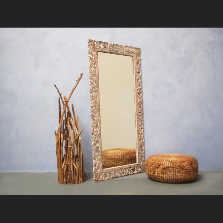 Espejo de madera blanco lavado muebles de dise o - Lavado de muebles de madera ...